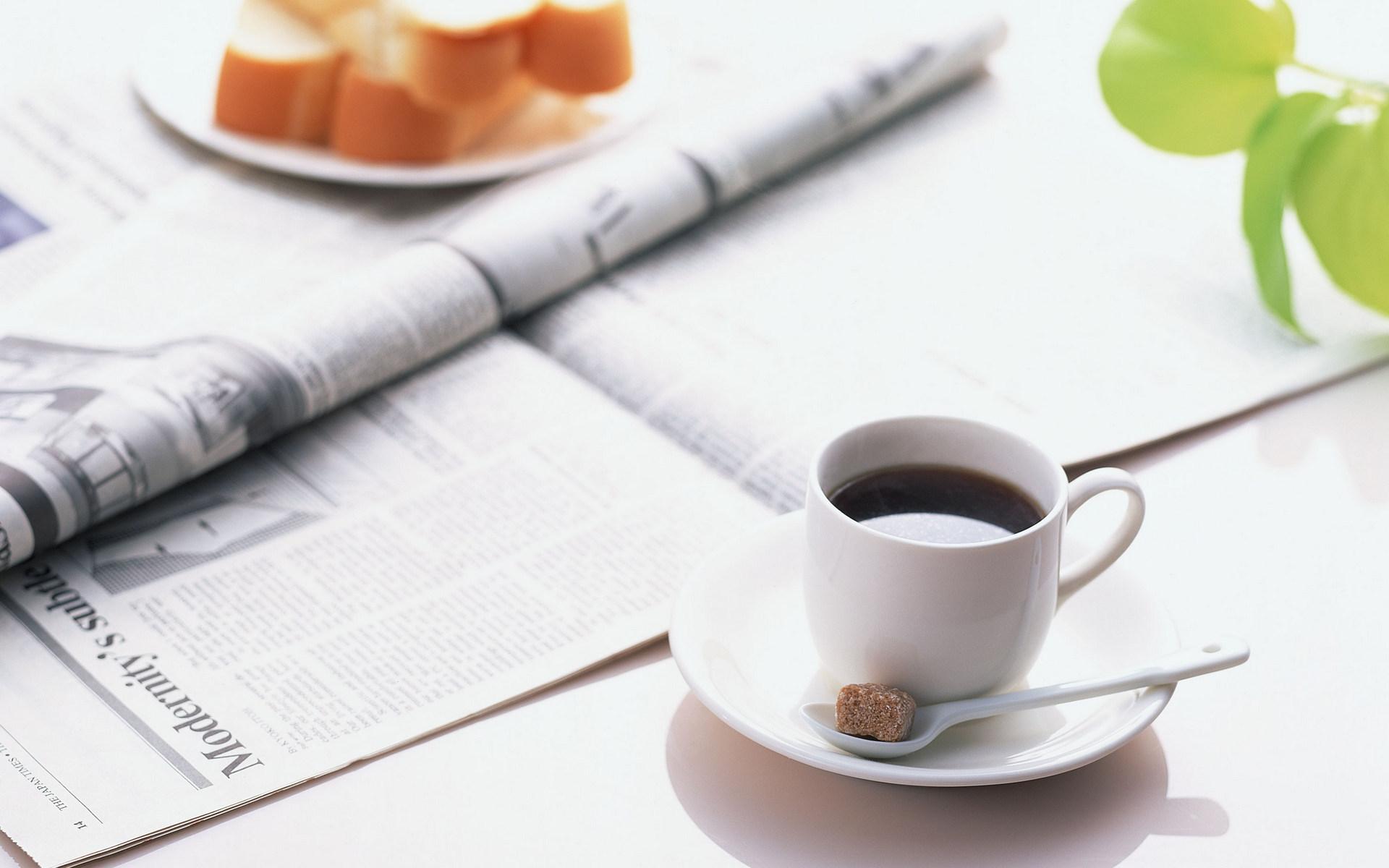 Morning coffee newspaper wallpaper | 1920x1200 | 46677 ...