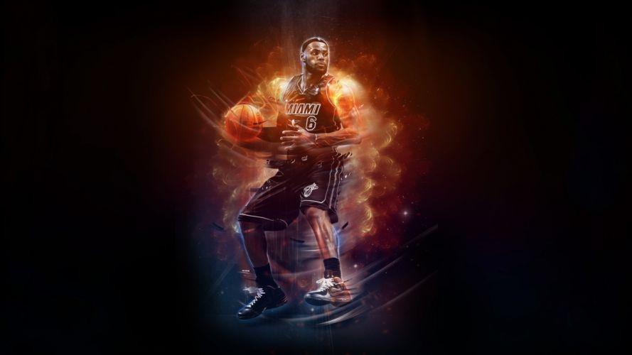 LeBron James NBA Basketball Miami Heat wallpaper