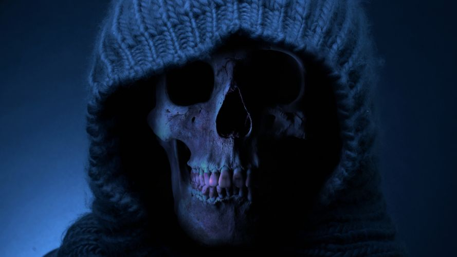 skull death teeth mood wallpaper