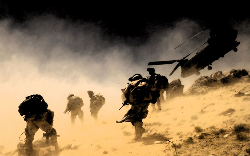 Soldiers Helicopter Dust military wallpaper