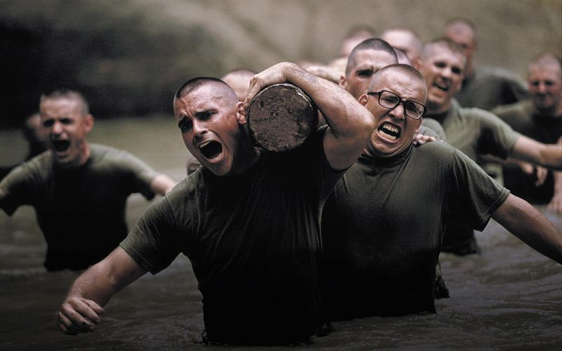 Soldiers Log Training military men males wallpaper