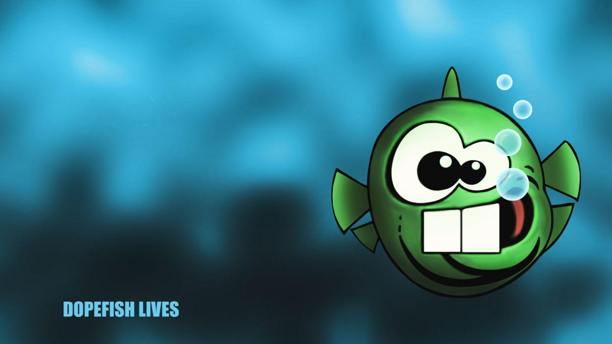 video games commander keen dopefish wallpaper