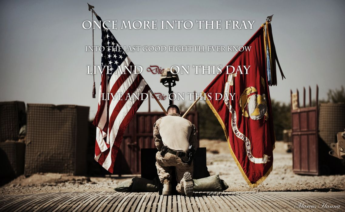 The Grey Poem Marine Soldier Memorial military text quotes wallpaper