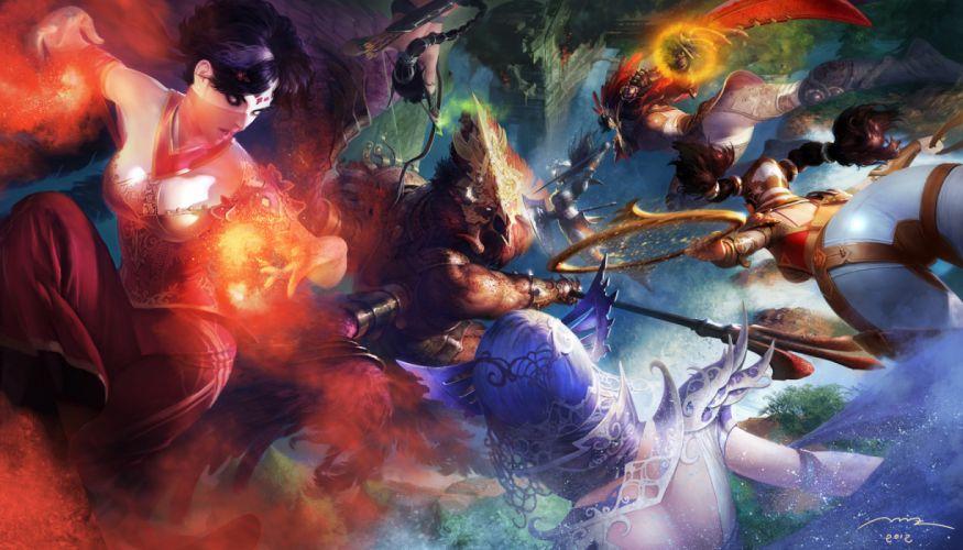 fantasy battle wallpaper