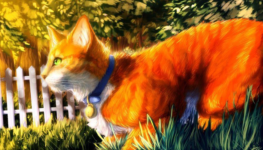 Cats Painting Art Animals wallpaper