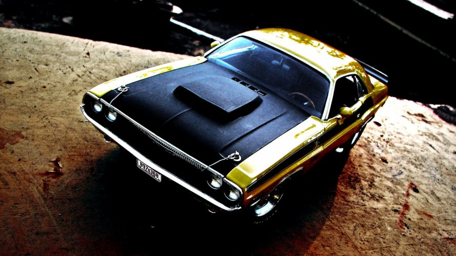 1970 Dodge Challenger muscle cars classic wallpaper