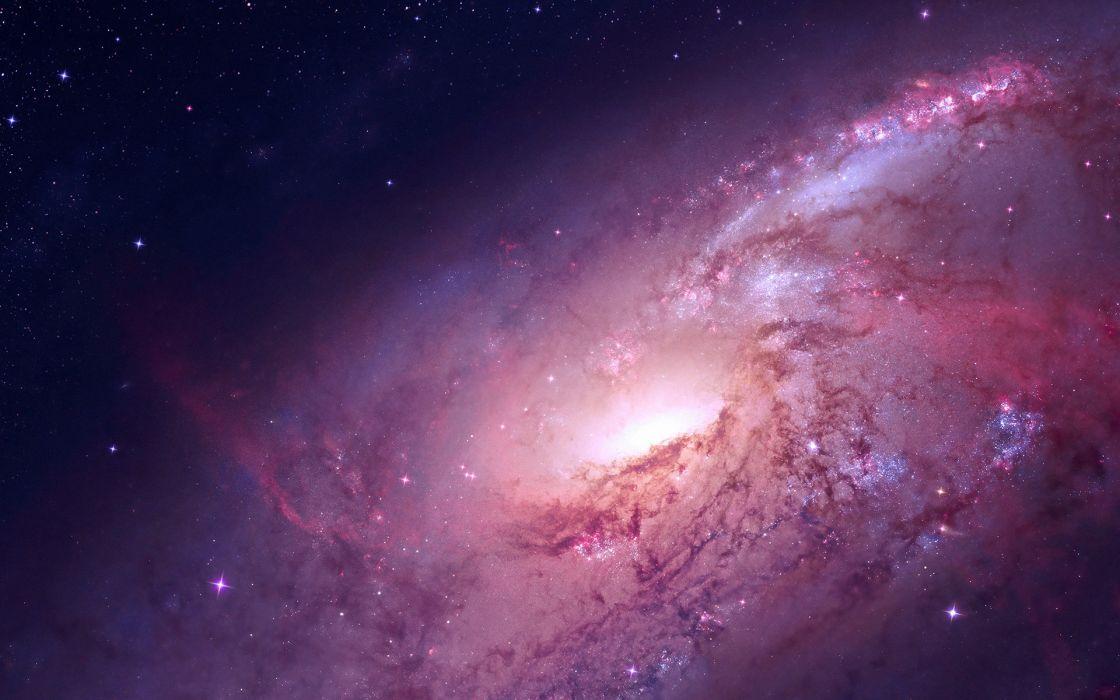 Galaxy Stars Purple wallpaper