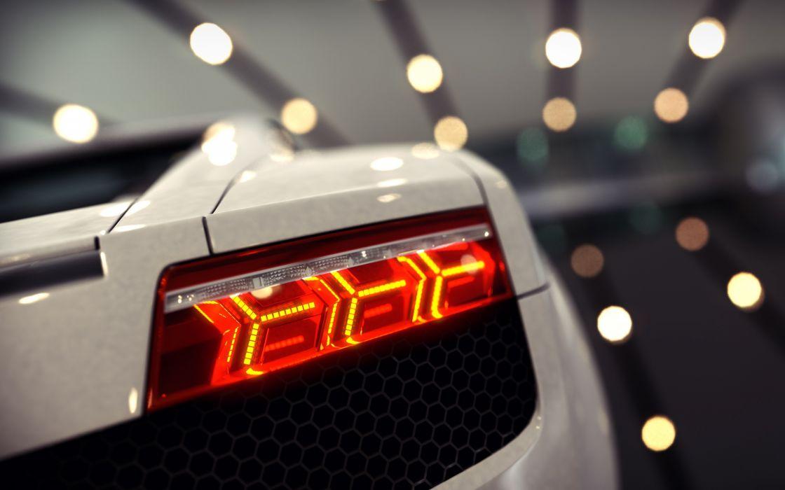 Lamborghini Gallardo Bokeh Tail Light supercars wallpaper
