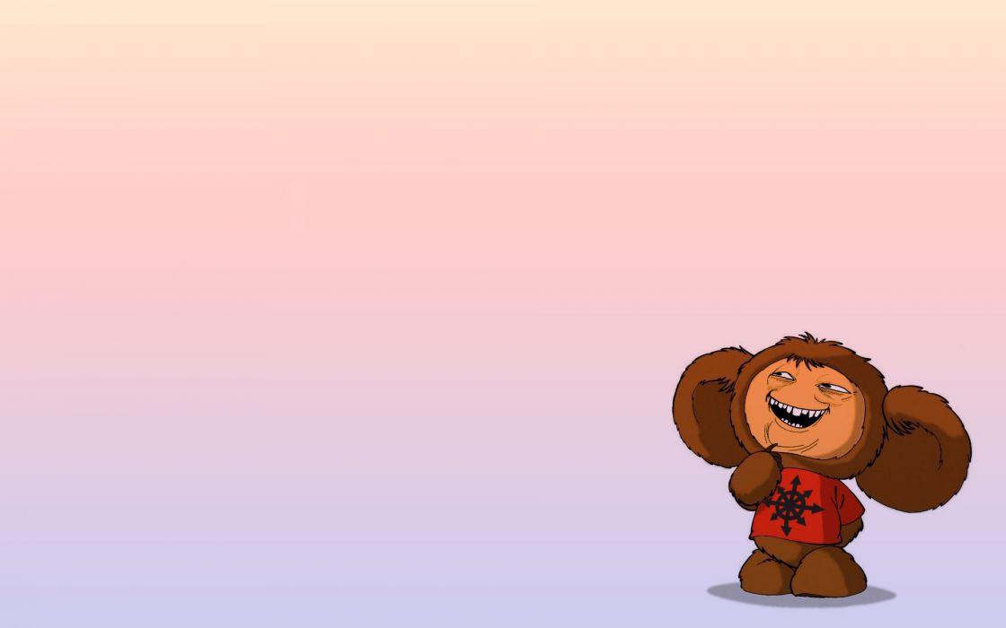 minimalism  trollfeys  Cheburashka  Trollface  Peck wallpaper
