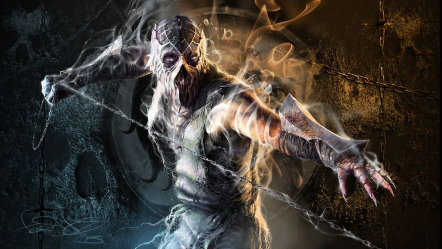 Mortal Kombat Scorpion Creepy wallpaper