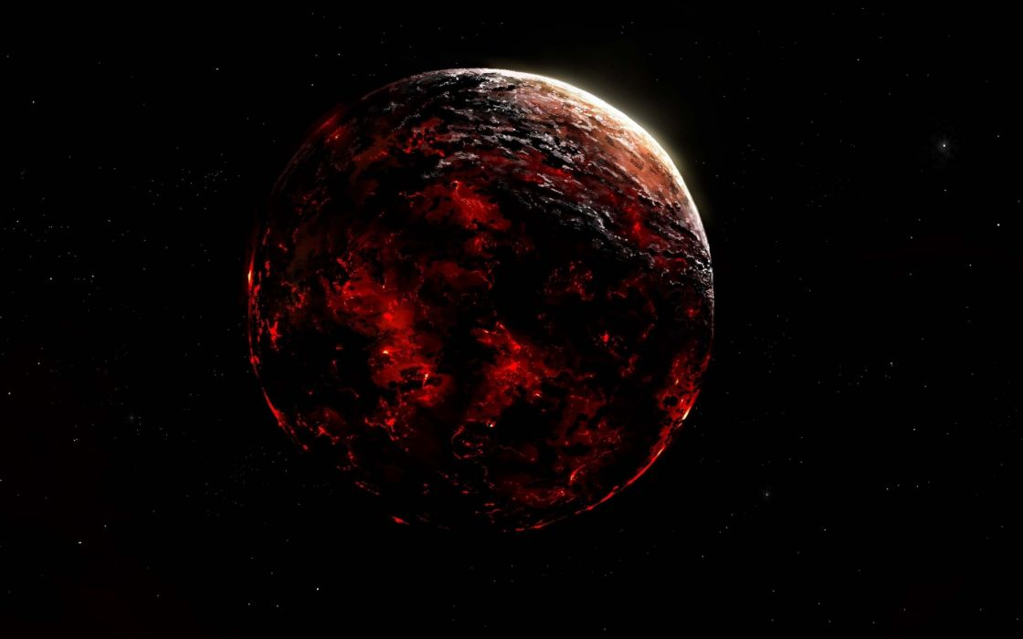 lava  space  planet  Alberto vangelista stars wallpaper