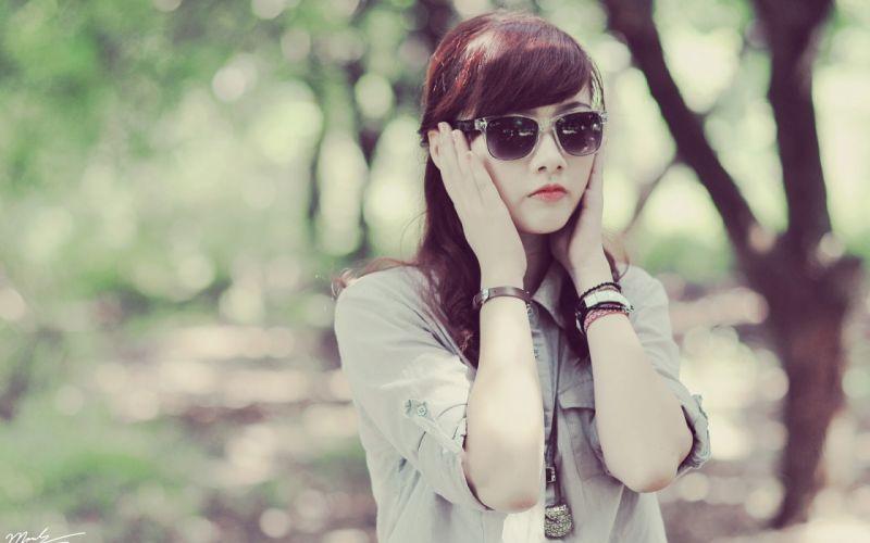 women glasses asians wallpaper