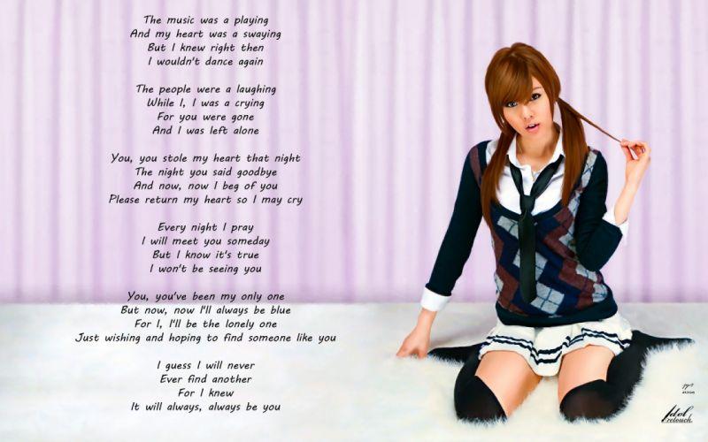 brunettes women uniforms models school uniforms queen lonely hwang mi hee asians korean wallpaper
