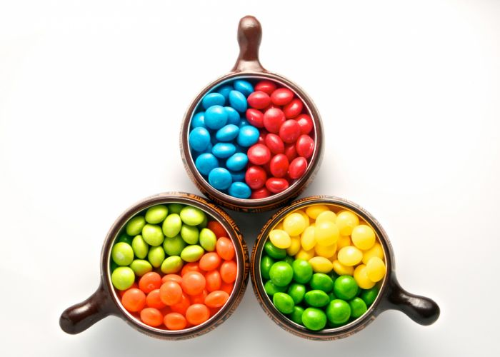 Skittles Candy Cup White wallpaper