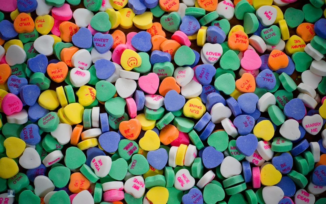 Valentine 039 S Day Candy Hearts Wallpaper 1680x1050 47726