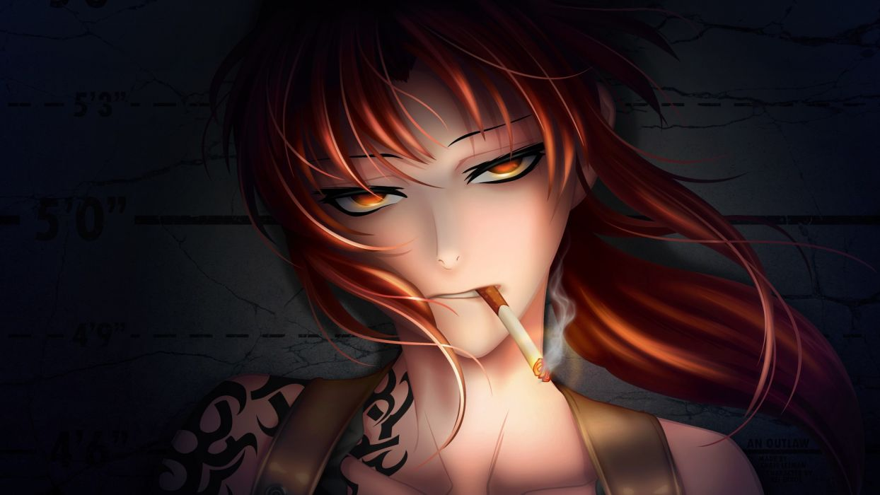 Anime smoking cigarette face wallpaper 1920x1080 47752 - Anime face wallpaper ...