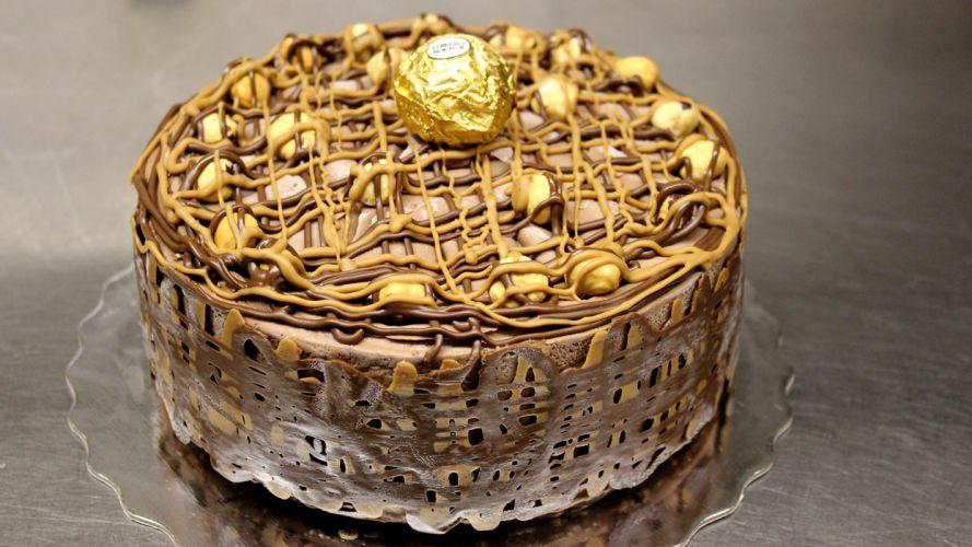Ferrero Rocher Chocolate Cake wallpaper
