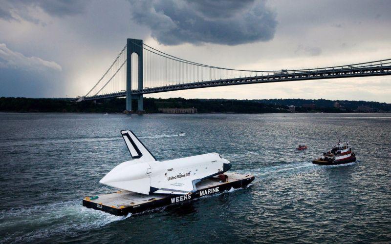 New York The Space Shuttle Enterprise Veracruz Bolzano Strait Bridge wallpaper
