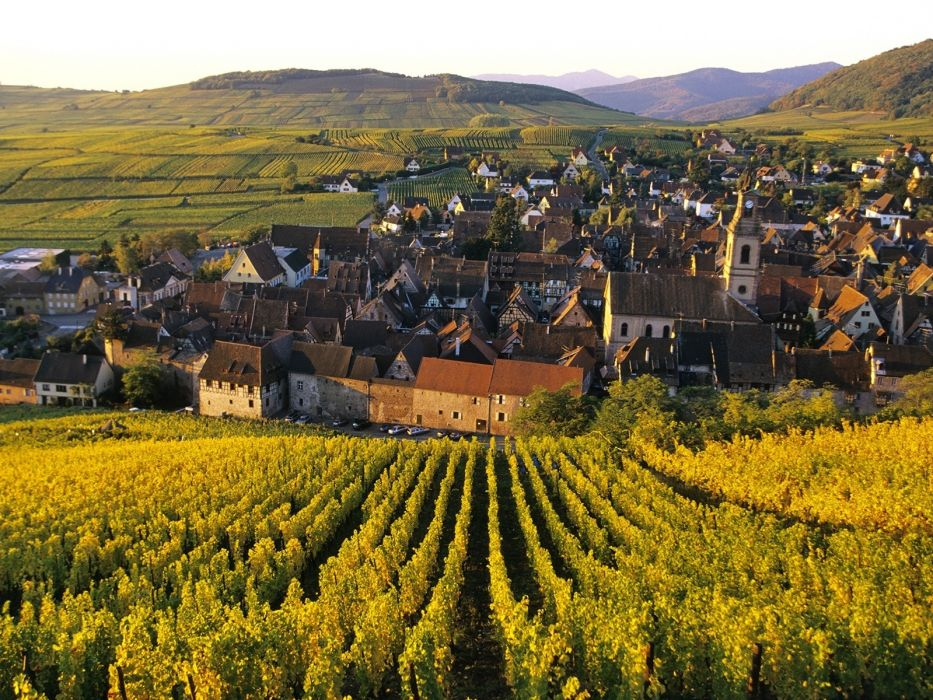 france wine village landscapes buildings houses wallpaper