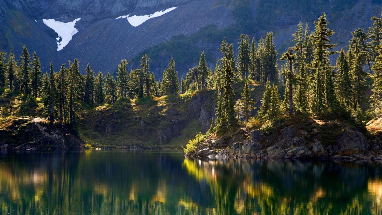 baker wilderness washington mount lake hayes backgrounds landscape nature reflection wallpaper