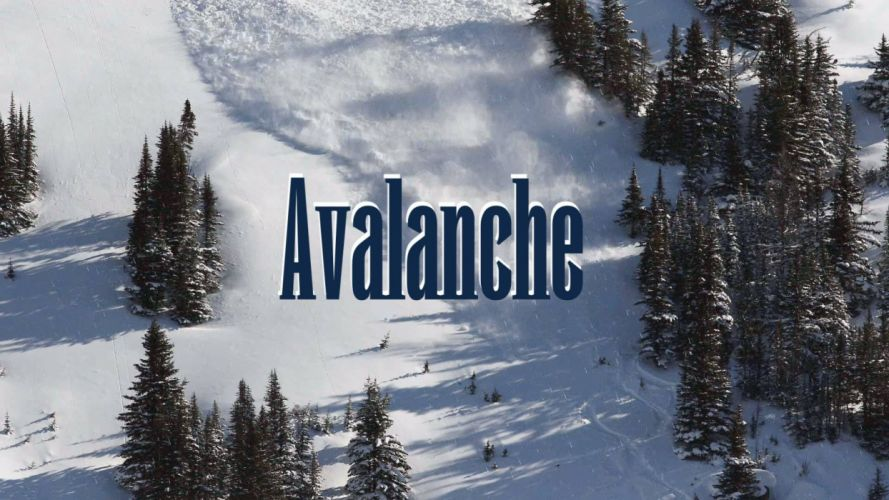landscape avalanche mountains winter trees wallpaper