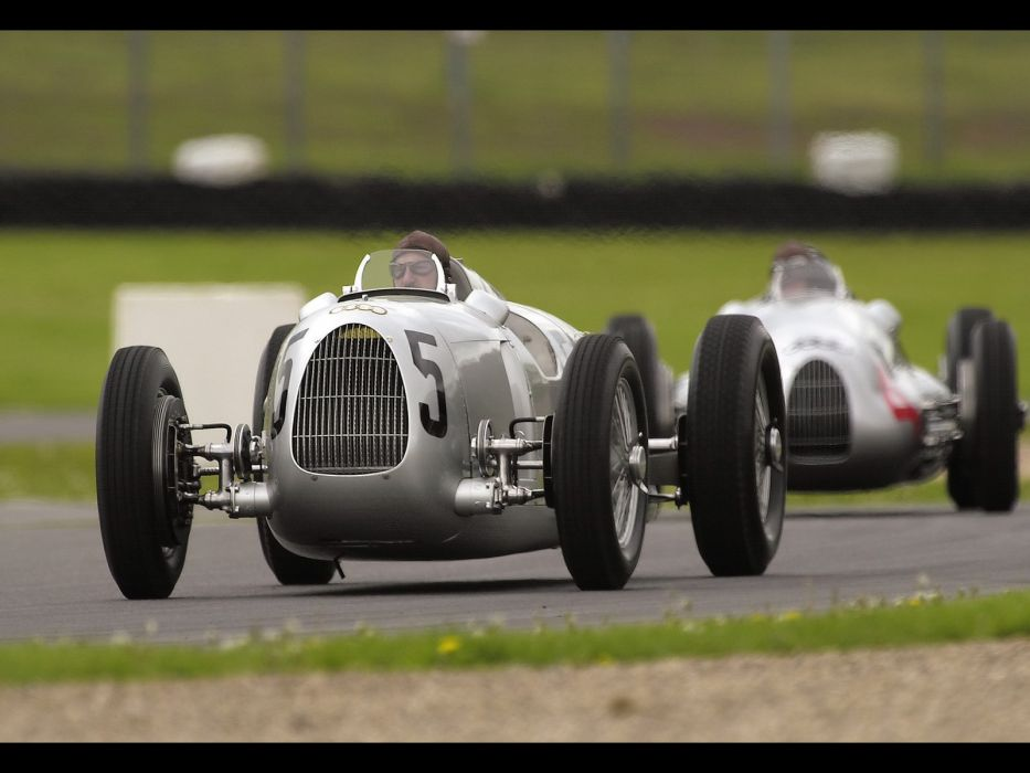 1936 Auto Union Type-C retro classic race cars        q wallpaper