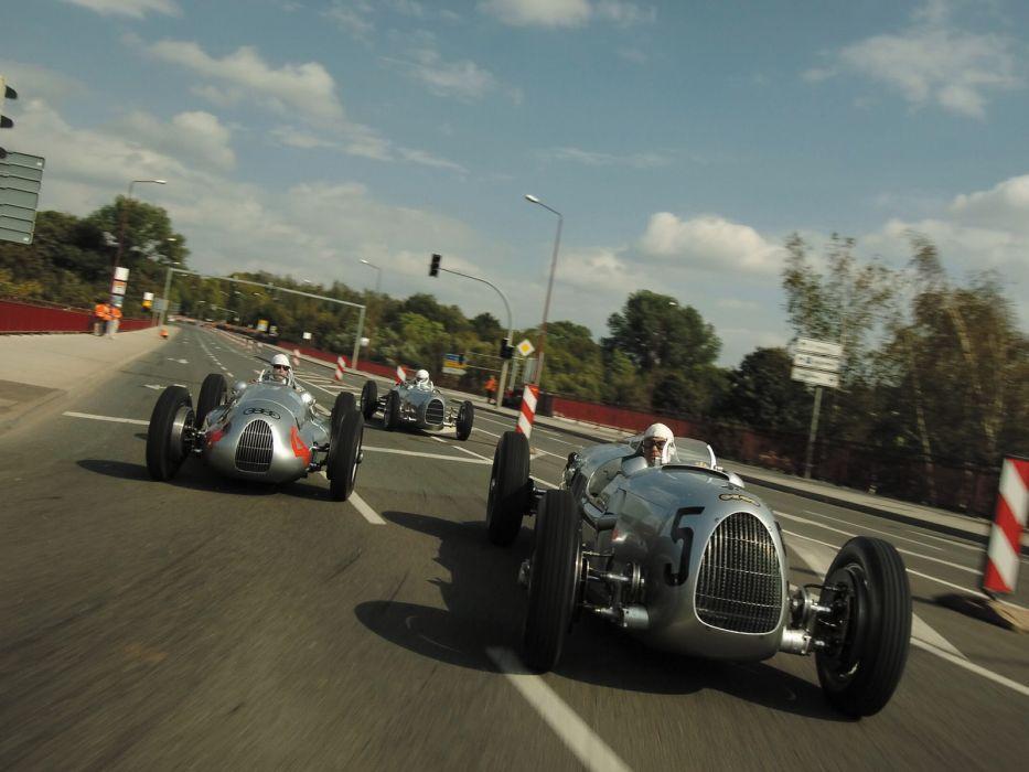 1936 Auto Union Type-C retro classic race cars        r wallpaper