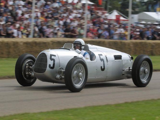 1936 Auto Union Type-C retro classic race cars e wallpaper