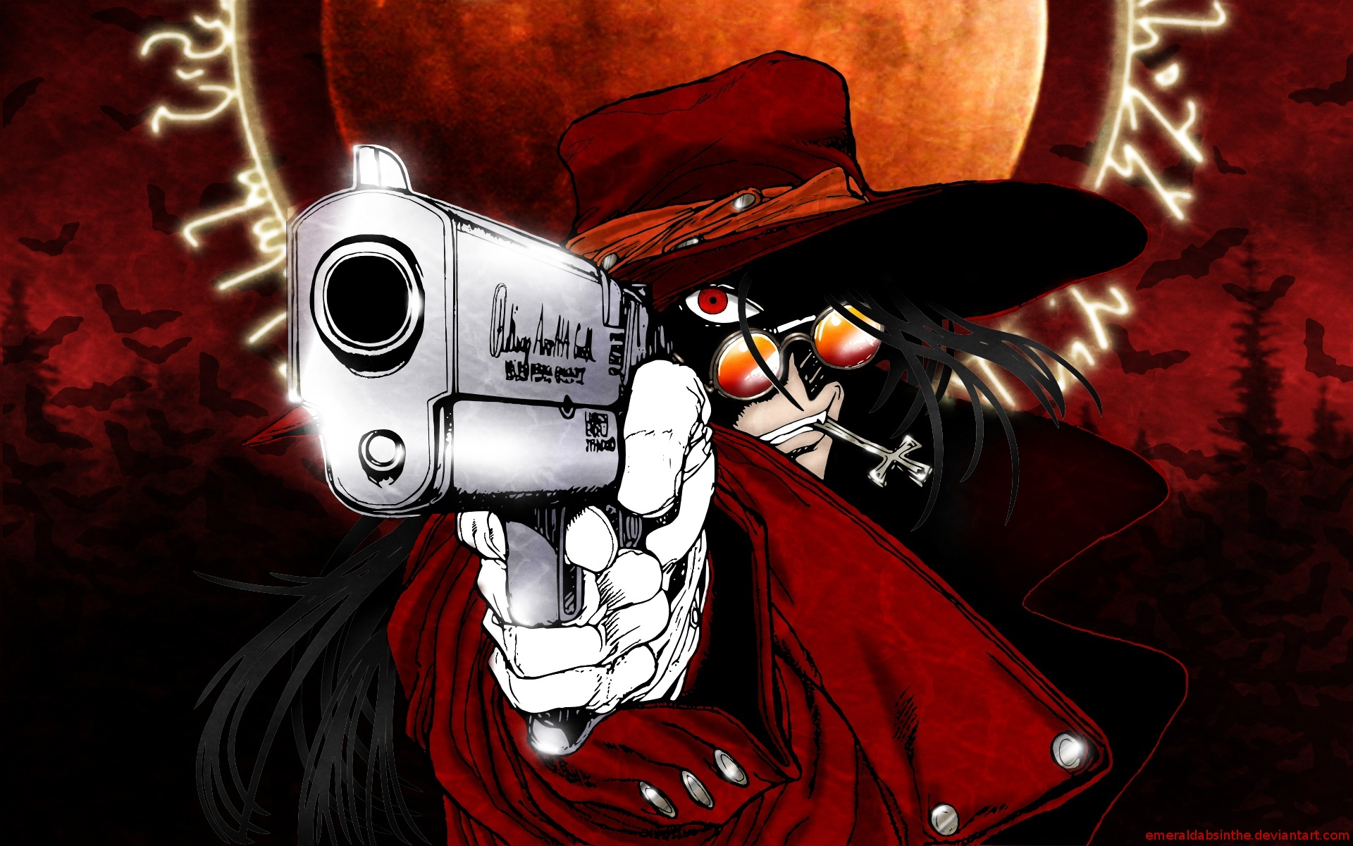 Hellsing gothic anime wallpaper 1920x1200 48117 - Anime hellsing wallpaper ...