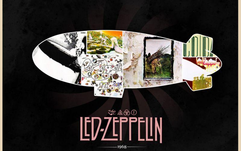 Led Zeppelin Rock Classic album art airship Robert Plant Jimmy Page John Bonham John Paul Jones 1968 wallpaper