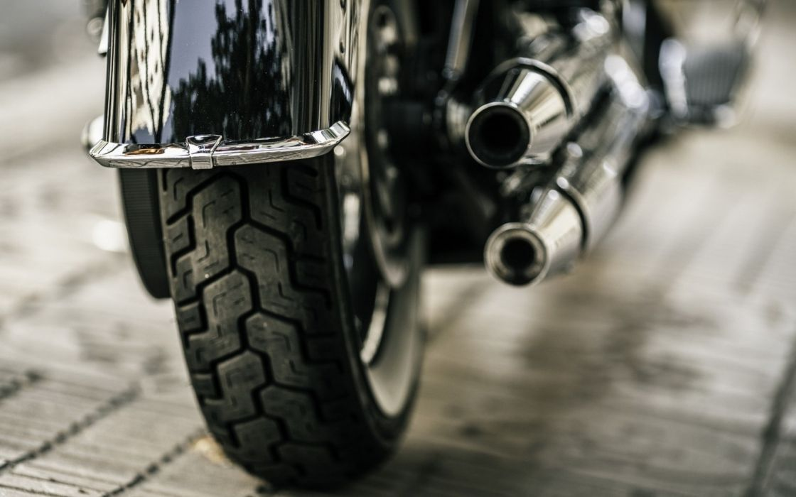 Harley Davidson Motorcycle Wheel Exhaust wallpaper