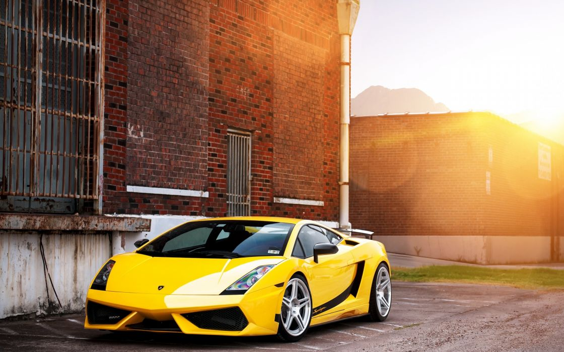 Lamborghini Gallardo Superleggera yellow supercars wallpaper