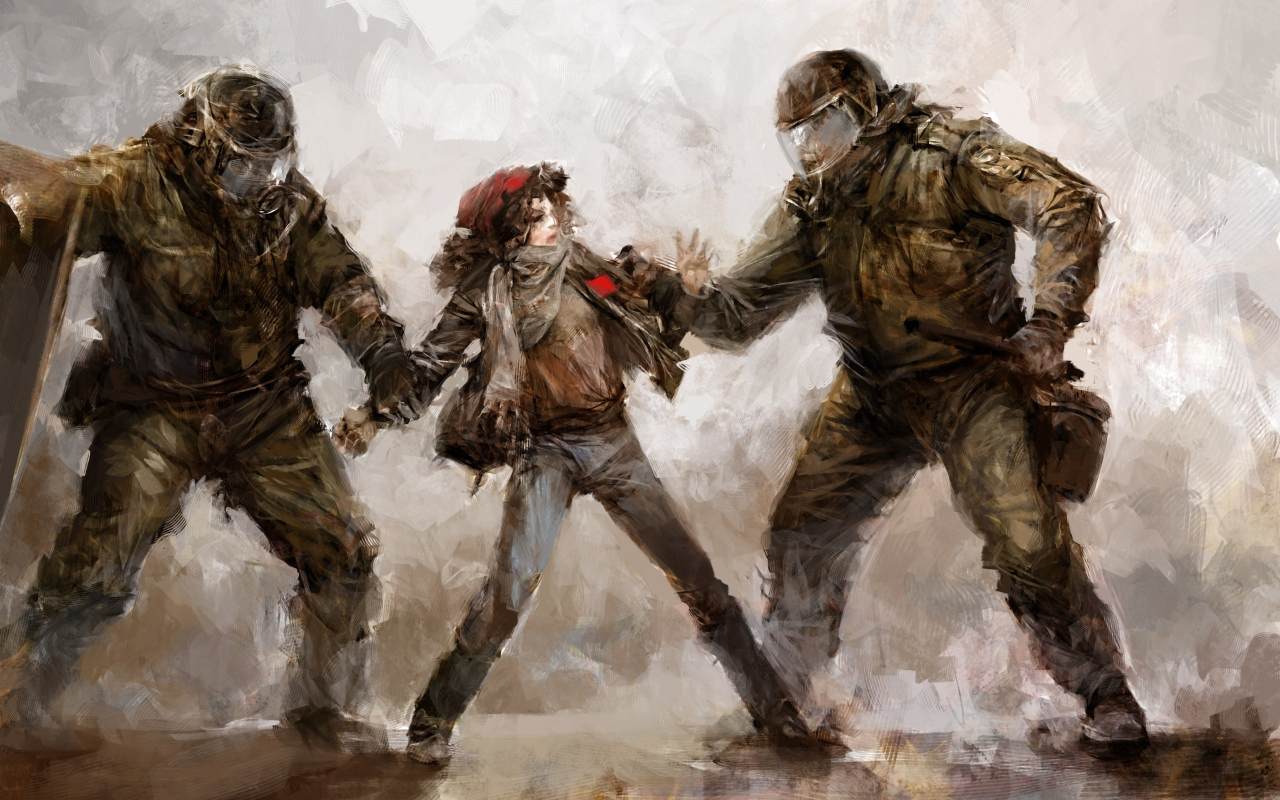 riot drawing anarchy police wallpaper | 2560x1600 | 48283 | wallpaperup