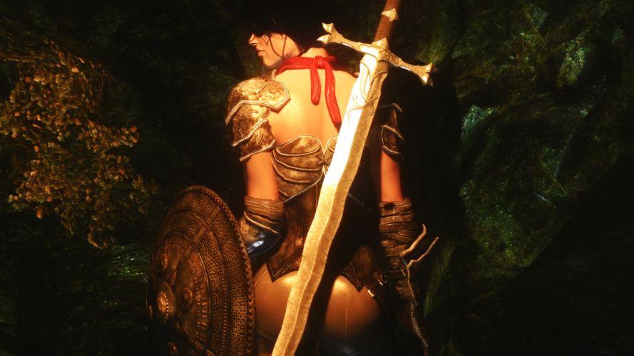 Skyrim Elder Scrolls Sword wallpaper