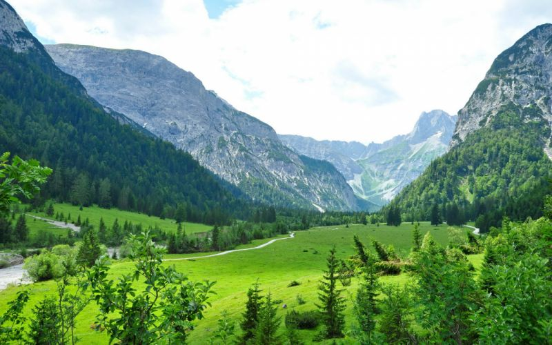 Landscape Austria Mountains Eben am Achensee Tyrol Grass Nature mountains wallpaper