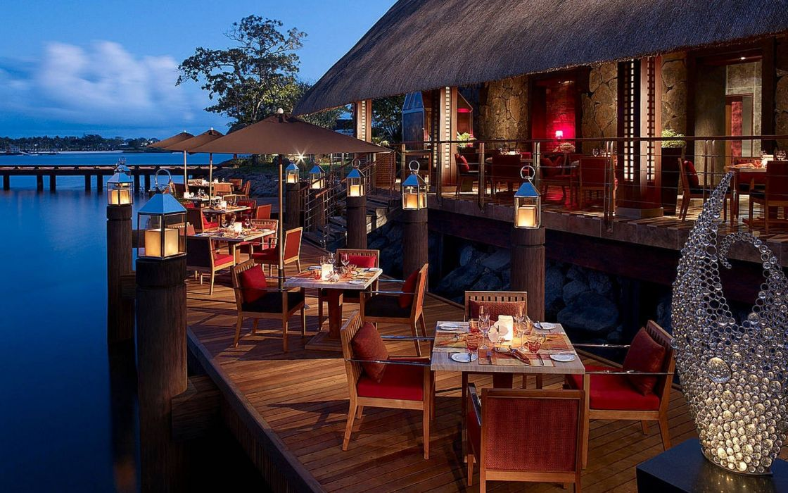 sea ocean restaurant romance open beautiful sea ocean restaurant romance view buildings wallpaper