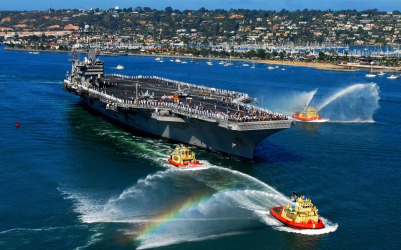 water port aircraft carrier military boats ships wallpaper