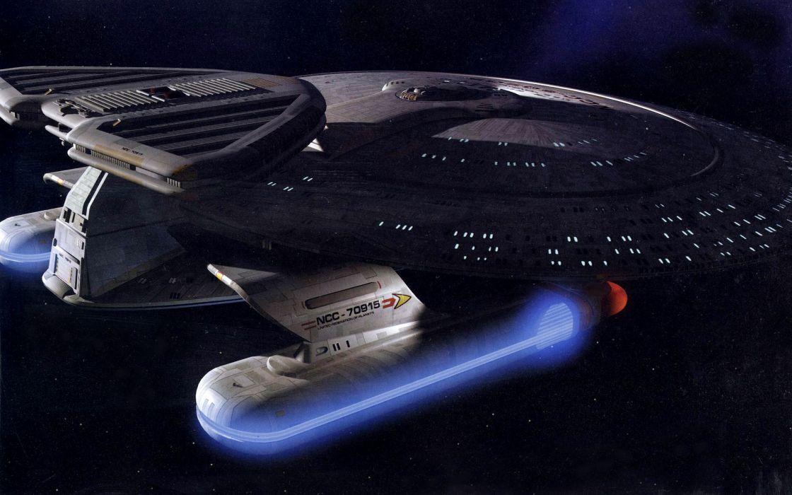 Star Trek sci-fi futuristic spaceship spacecraft wallpaper