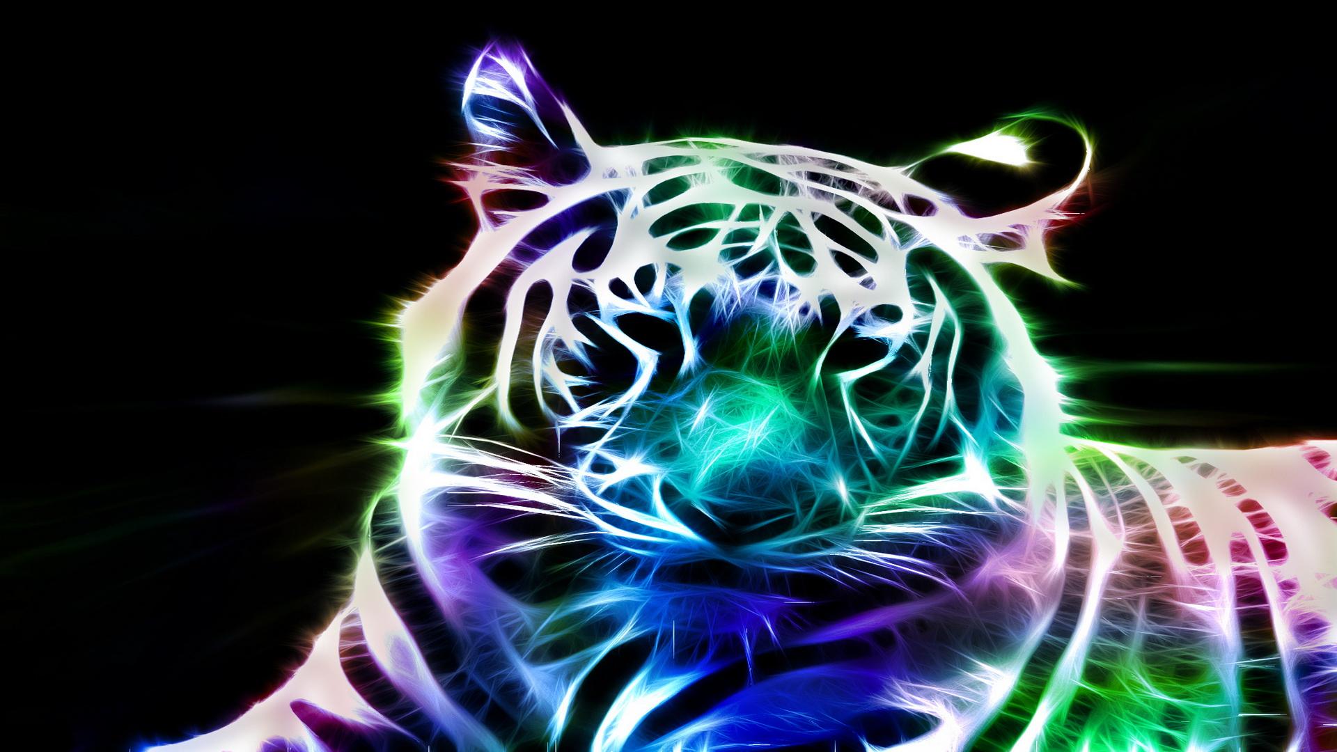 tiger fractal cats e - photo #12