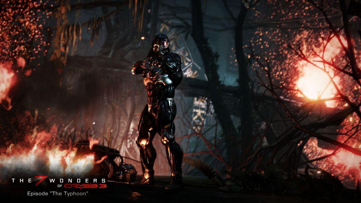 Crysis 3 warrior sci-fi wallpaper