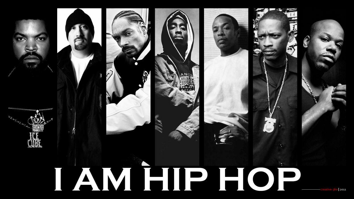 Hip Hop Rap Bw Ice Cube Snoop Dogg Tupac Shakur Dr Dre Wallpaper