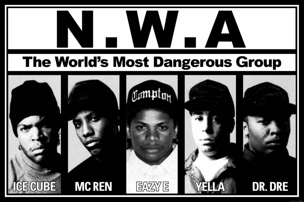 N_W_A_ BW Ice Cube Mc Ren Eazy E Yella Dr Dre Hip Hop Rap wallpaper