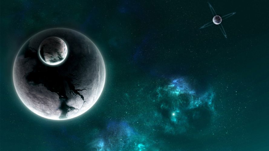 Planets Stars space wallpaper