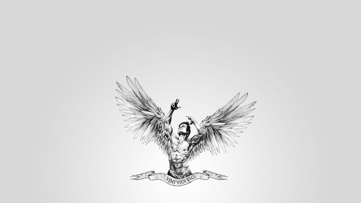 muscles wings veni bodybuilding aesthetic body aesthetics sports angel men males art wallpaper