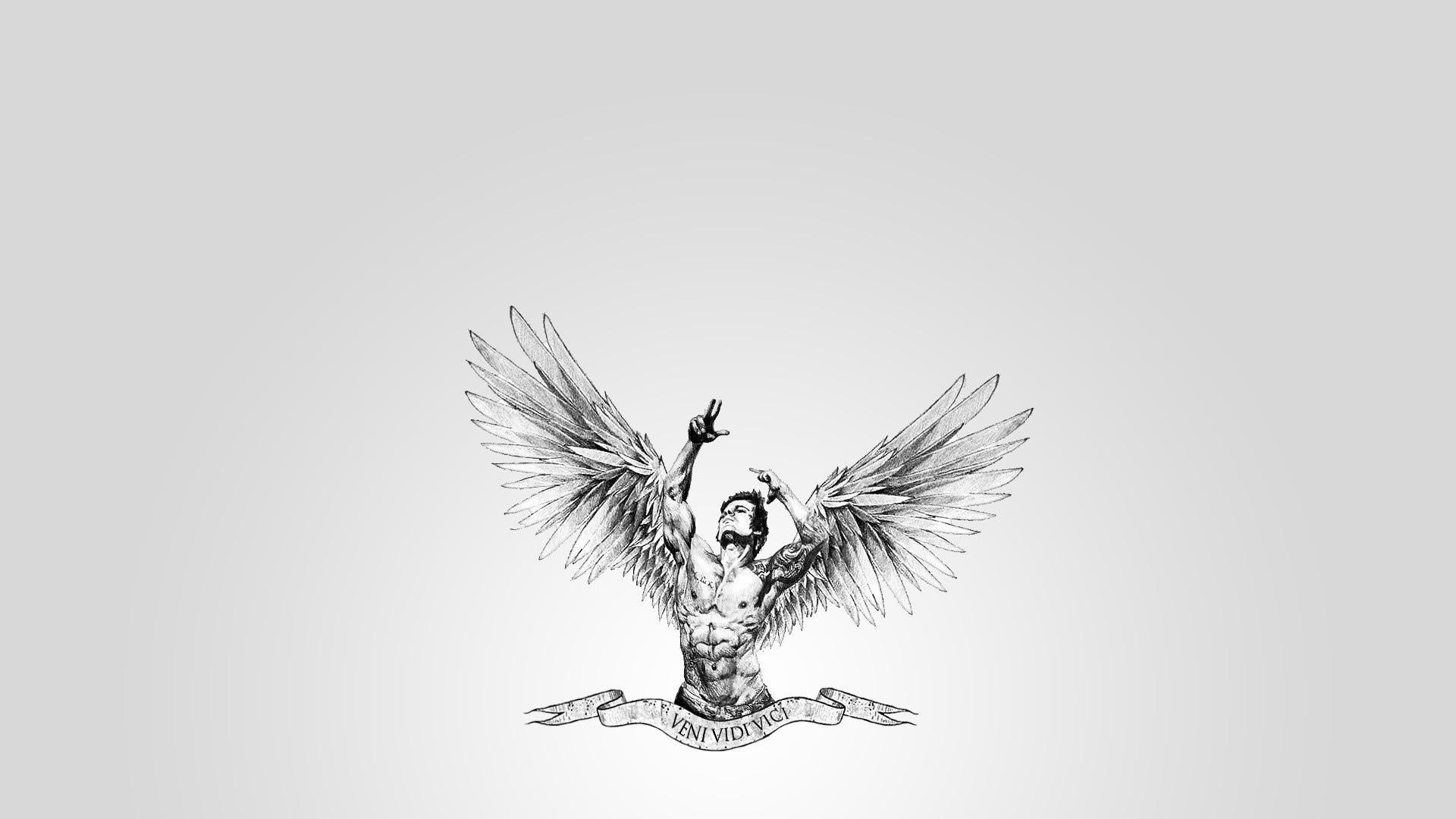Muscles Wings Veni Bodybuilding Aesthetic Body Aesthetics Sports Angel Men  Males Art Wallpaper | 1920x1080 | 48494 | WallpaperUP