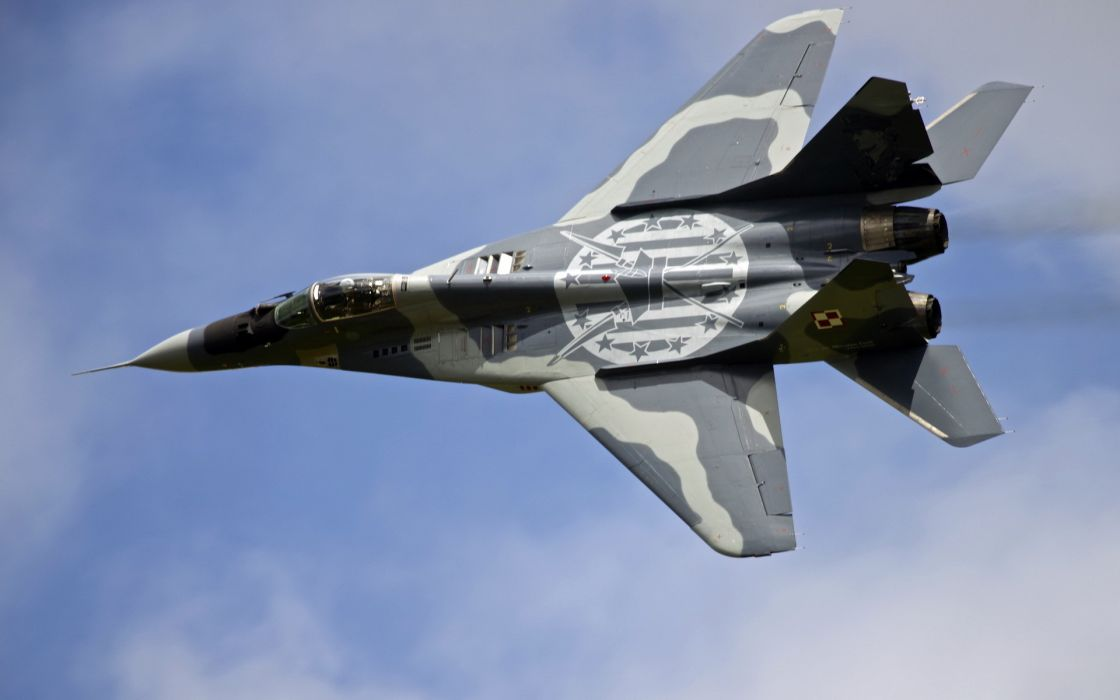 plane Polish mig-29 fighter jets military sky wallpaper