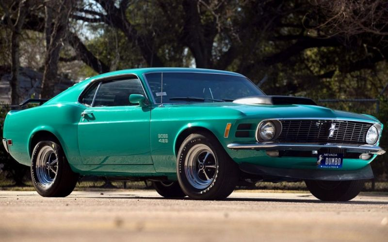 ford mustang boss 429 trees road cars wallpaper