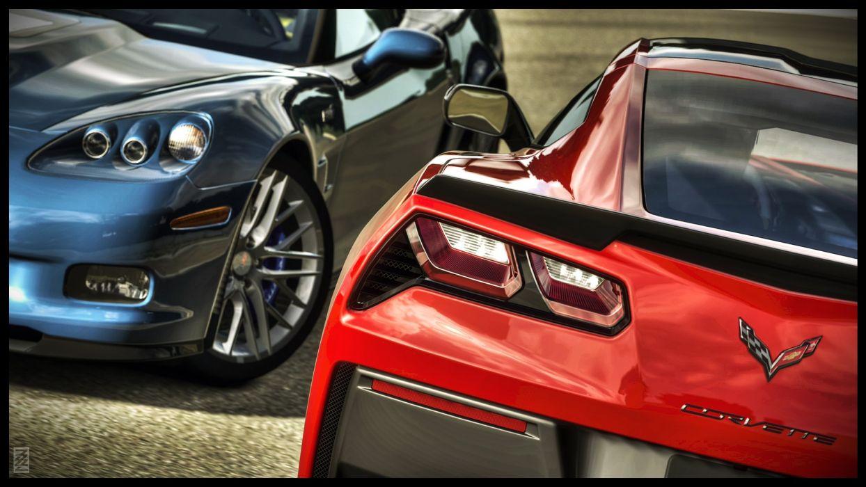 Chevrolet Corvette Stingray muscle supercars wallpaper