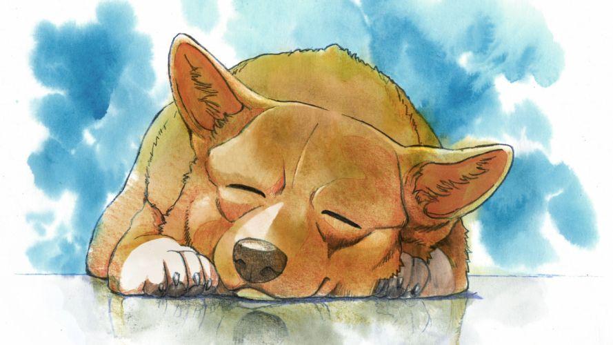 Dog Drawing Sleep art cartoons wallpaper