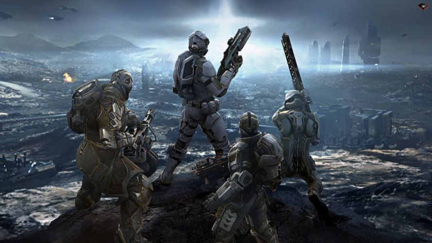 Dust 514 warriors weapons guns wallpaper